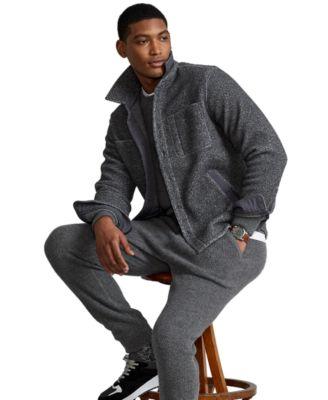 폴로 랄프로렌 맨 뽀글이 자켓 Polo Ralph Lauren Mens Brushed Fleece Shirt Jacket,Medium Flannel Heather