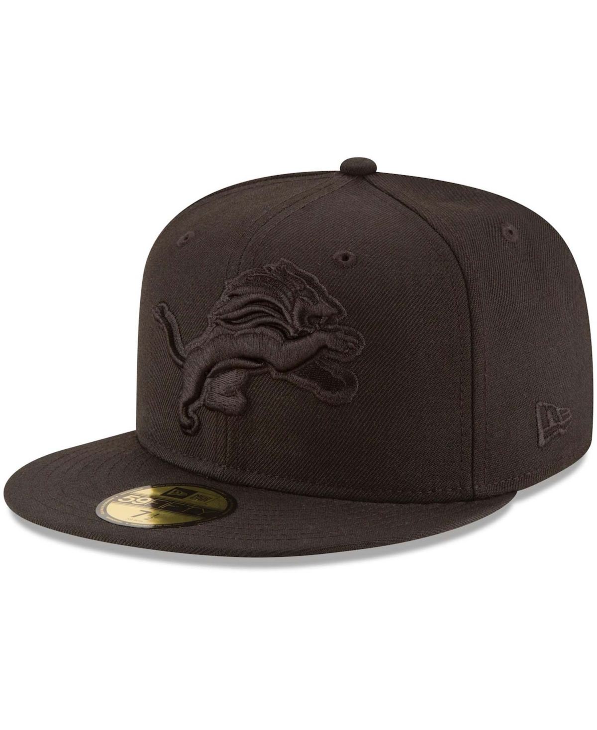 Men's Detroit Lions Black on Black 59FIFTY Fitted Hat
