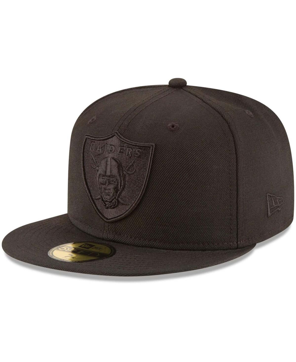 Men's Las Vegas Raiders Black on Black 59FIFTY Fitted Hat