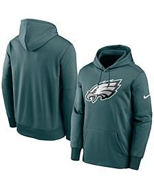 Men's Midnight Green Philadelphia Eagles Fan Gear Primary Logo Performance Pullover Hoodie