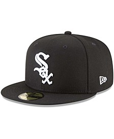 Men's Black Chicago White Sox 59FIFTY Fitted Hat