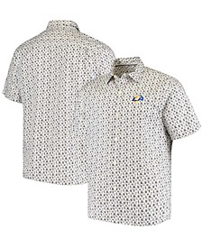 Men's White Los Angeles Rams Baja Mar Woven Button-Up Shirt
