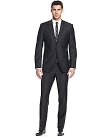 BOSS HUGO BOSS Black Solid Trim-Fit Suit