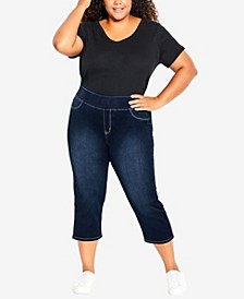 Plus Size Pull On Butter Denim Cropped Jeans