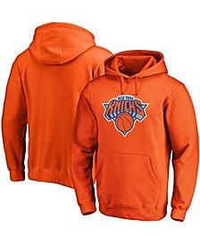 Men's Orange New York Knicks Primary Team Logo Pullover Hoodie