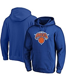 Men's Big and Tall Blue New York Knicks Primary Team Logo Pullover Hoodie