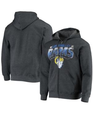 Men's Heathered Gray Los Angeles Rams Perfect Season Full-Zip Hoodie