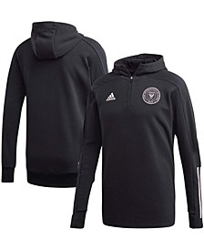 Men's Black Inter Miami CF 2020 Travel Quarter-Zip Hoodie Jacket