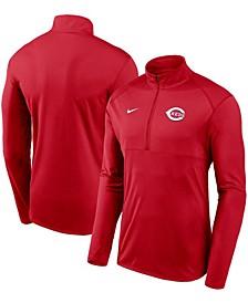 Men's Red Cincinnati Reds Team Logo Element Performance Half-Zip Pullover Jacket