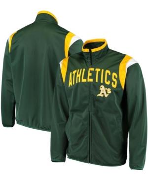 Men's Green Oakland Athletics Post Up Full-Zip Track Jacket