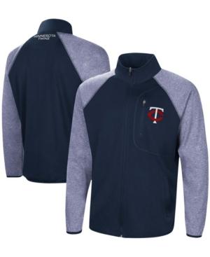 Men's Navy Minnesota Twins Freestyle Transitional Raglan Full-Zip Jacket
