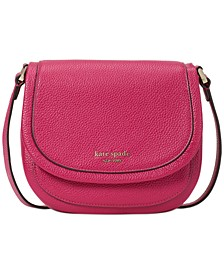 Roulette Leather Small Saddle Bag