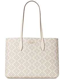 Spade Flower Coated Canvas All Day Large Tote