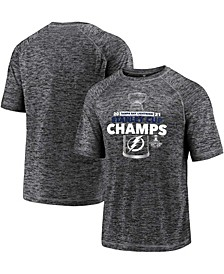 Men's Gray Tampa Bay Lightning 2021 Stanley Cup Champions Power Play Performance T-shirt