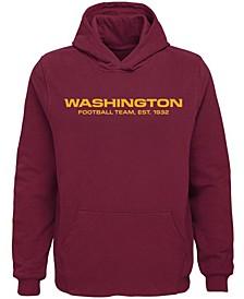 Youth Burgundy Washington Football Team Team Logo Pullover Hoodie