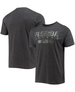 Men's Heather Black Florida Gators Oht Military-Inspired Appreciation Team Stack T-shirt