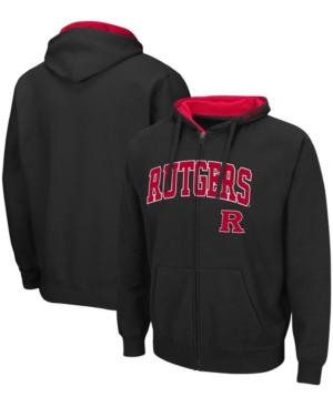 Men's Black Rutgers Scarlet Knights Arch Logo 3.0 Full-Zip Hoodie