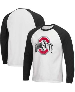 Men's Black Ohio State Buckeyes Mystery Raglan Long Sleeve T-shirt