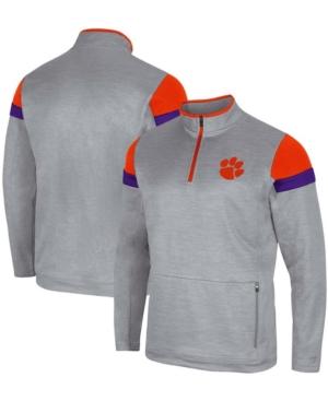 Men's Gray Clemson Tigers Bingo Quarter-Zip Jacket
