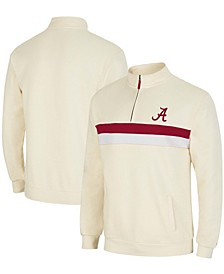 Men's Cream Alabama Crimson Tide Activities Quarter-Zip Jacket