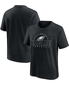 Youth Boys Black Philadelphia Eagles Dual Threat T-shirt