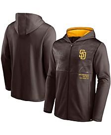 Men's Brown San Diego Padres Primary Logo Full-Zip Hoodie