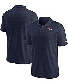 Men's Navy Denver Broncos Sideline Victory Coaches Performance Polo Shirt
