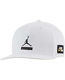 Men's White Pro Snapback Hat
