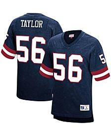 Men's Lawrence Taylor Royal New York Giants Retired Player Name Number Acid Wash Top