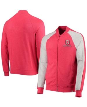 Men's Scarlet Ohio State Buckeyes Do It with Style Raglan Full-Zip Jacket