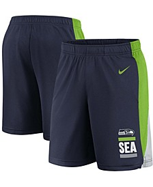 Youth Boy's College Navy Seattle Seahawks Shorts