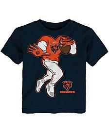 Toddler Boys and Girls Navy Chicago Bears Yard Rush II T-Shirt