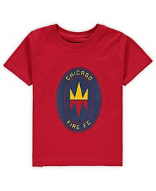 Toddler Boys and Girls Red Chicago Fire Primary Logo T-Shirt