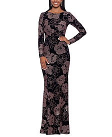 Floral Print Gown