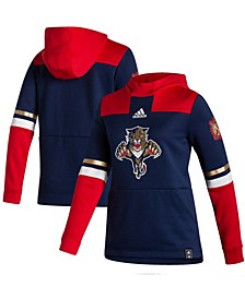 Women's Navy-Red Florida Panthers Reverse Retro Pullover Hoodie