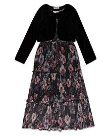 Big Girls Floral Lurex Dress
