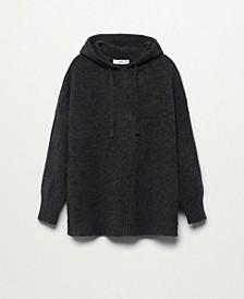 Women's Hooded Knit Sweatshirt