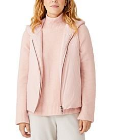 Hooded Zip-Up Vest, Regular & Petite Size