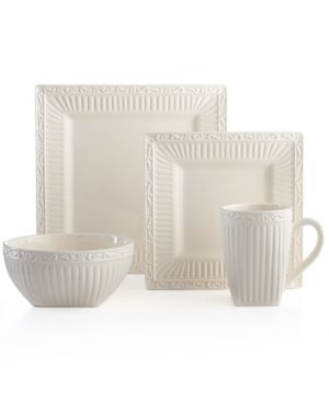 Mikasa Dinnerware, Italian Countryside Square 4 Piece Place Setting