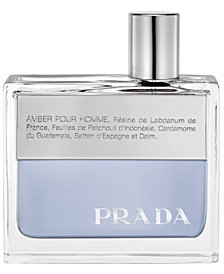 Prada Men's Amber Pour Homme Eau de Toilette Spray, 1.7 oz
