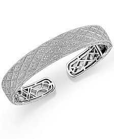 Diamond Bangle Bracelet in Sterling Silver (1/2 ct. t.w.)