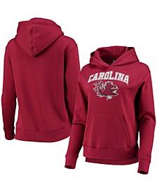 Women's Garnet South Carolina Gamecocks All Day Team Fleece Pullover Hoodie