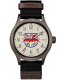 Black Men's New York Red Bulls Clutch Watch