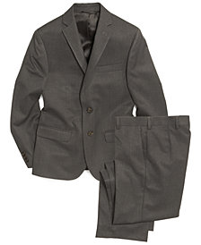 Lauren Ralph Lauren Grey Solid Suit Jacket & Pants, Big Boys