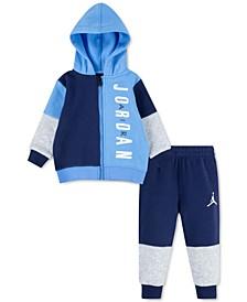 Baby Boys 2-Pc. Half Court Hoodie & Pants Set