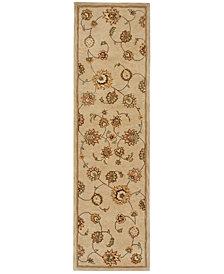 "Nourison Wool & Silk 2000 2360  2'3"" x 8' Runner Rug"