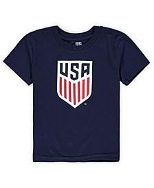 Preschool Navy US Soccer Primary Logo Short Sleeve T-shirt