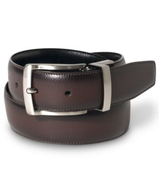 belts for men designer 35m6  Perry Ellis Men's Leather Burnished Edge Reversible Belt