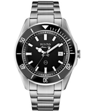 Bulova Men's Marine Star Stainless Steel Bracelet Watch 43mm 98B203