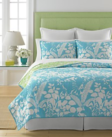 Martha Stewart Collection  100% Cotton Paradise Palm Twin Quilt